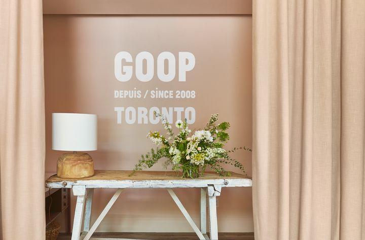 Goop's pop-up location at the Hazelton Hotel in Toronto.