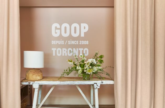 Goop's pop-up location at the Hazelton Hotel in