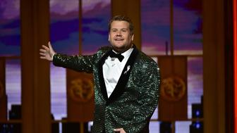 NEW YORK - JUNE 12: James Corden at THE 70TH ANNUAL TONY AWARDS, live from the Beacon Theatre in New York City, Sunday, June 12 (8:00-11:00 PM, live ET/ delayed PT) on the CBS Television Network. (Photo by John Paul Filo/CBS via Getty Images)