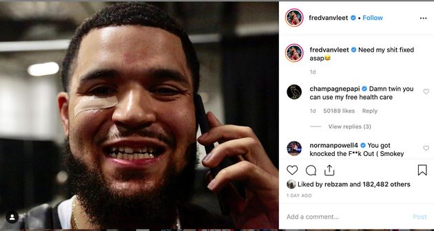 Drake Offers To Help Fix Fred VanVleet's Tooth With 'Free Health