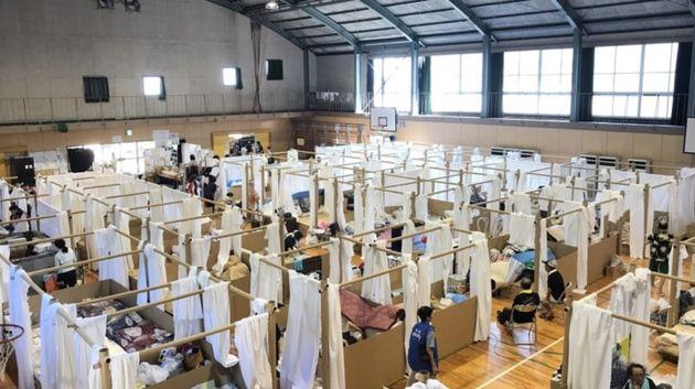 2011년 동일본 대지진 피해민을 위한 임시 주거
