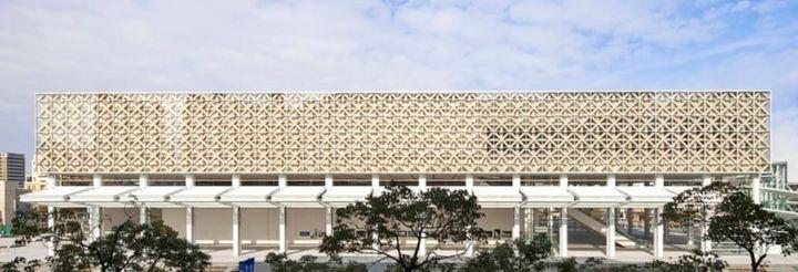 반 시게루의 종이 건축은 이렇게 아름다운 건물로도 구현된다. 일본 오이타 현립 미술관 전경.