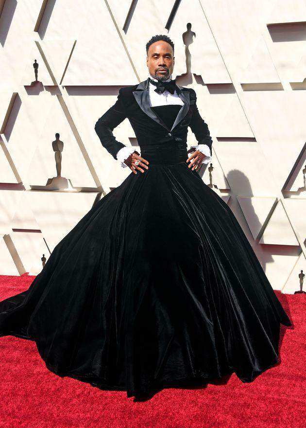 大きな話題になった、タキシードドレス。