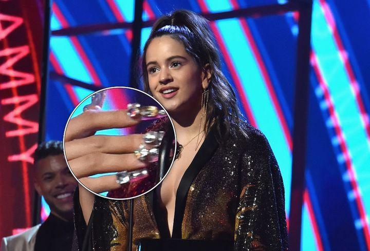 Rosalía, en la gala de los Grammy Latino 2018.