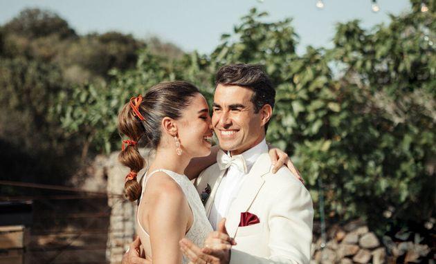 Las primeras imágenes de la romántica boda de Candela Serrat y Daniel