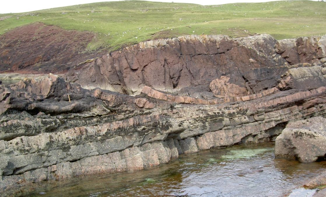 The crater was found in Scotland (Picture: Oxford University)