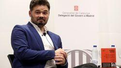 El 'palo' de Rufián a Pablo Iglesias por exigir un gobierno de coalición para apoyar a