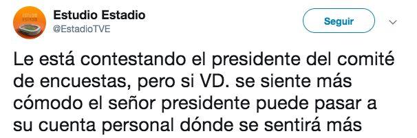 El desconcertante tuit de 'Estudio Estadio' (TVE) contra dos de sus colaboradores: