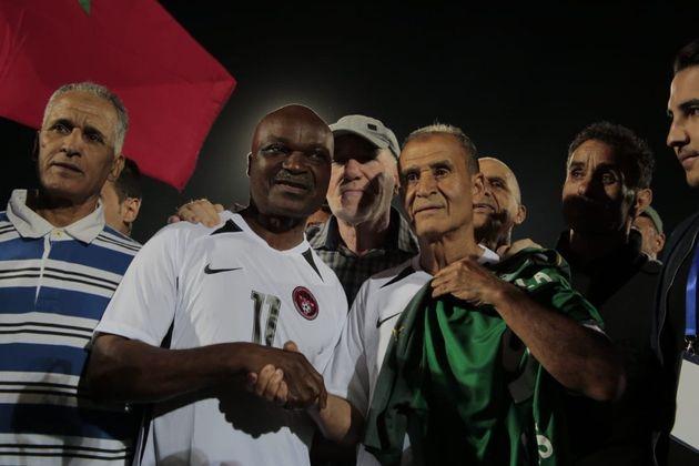 Roger Milla et Ahmed