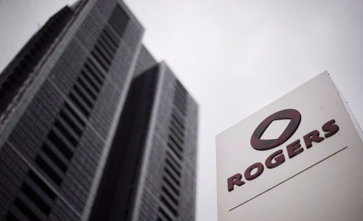 The Rogers logo outside the Rogers Building in Toronto on Tuesday, April 22, 2014.