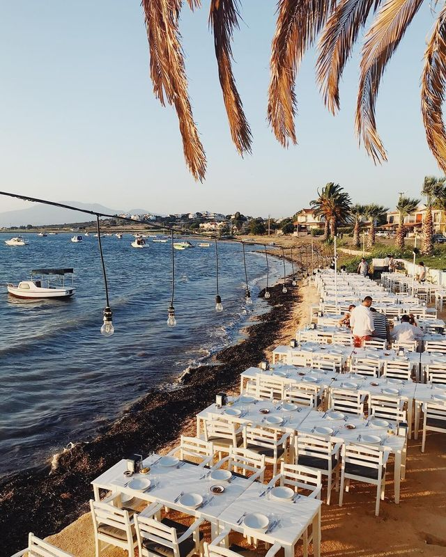 """""""Cesme, a beautiful seaside town on the Aegean coast, is well known amongst locals for its turquoise waters, bohemian after parties, fresh seafood and rustic stone houses,"""" says @goodcityguides."""