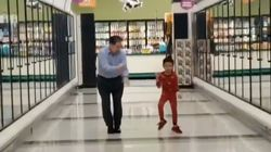 5-Year-Old Boy Makes His Grandpa Go Dancing In Grocery Store Just Before