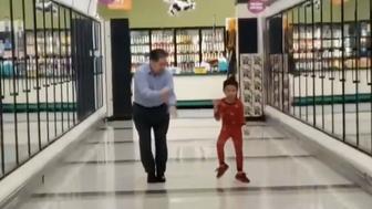Kyu San Juan and grandpa went dancing in grocery just before boy's surgery