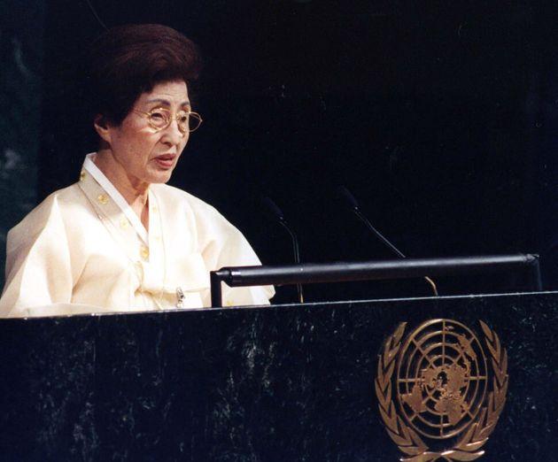 2002년 유엔 연설 당시의