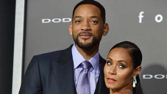 "HOLLYWOOD, CA - FEBRUARY 24:  Actors Will Smith and Jada Pinkett Smith attend the premiere of Warner Bros. Pictures' ""Focus"" at TCL Chinese Theatre on February 24, 2015 in Hollywood, California.  (Photo by Kevin Winter/Getty Images)"