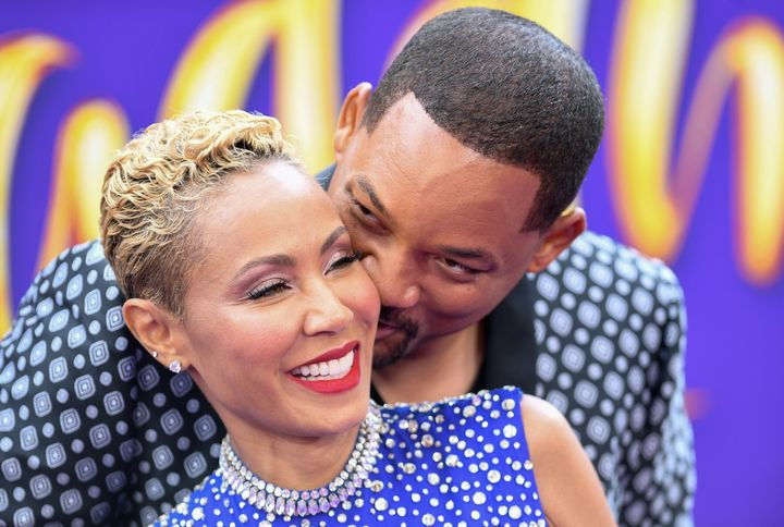 """Jada Pinkett Smith and Will Smith at the premiere of """"Aladdin."""""""