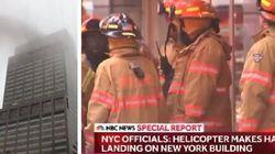 Un elicottero si è schiantato contro un grattacielo a New