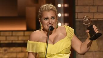 NEW YORK - JUNE 9: Ali Stroker winner Best Performance by an Actress in a Featured Role in a Musical for Rogers and Hammerstein's Oklahoma! at The 73rd Annual Tony Awards, broadcast live from Radio City Music Hall in New York, Sunday, June 9 (8:00-11:00 PM, live ET/delayed PT) on the CBS Television Network. (Photo by John Paul Filo/CBS via Getty Images)