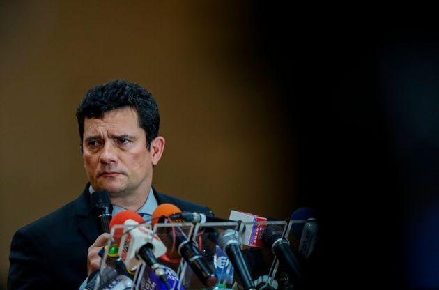 Moro fala durante coletiva de imprensa em evento em Manaus nesta segunda-feira