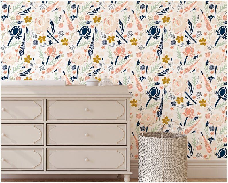 Removable Peel And Stick Wallpapers On Etsy That Are Perfect