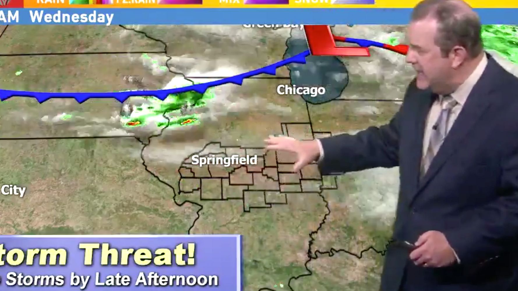 Weatherman Hasn't Appeared On Sinclair Station Since