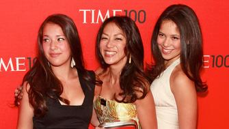 "NEW YORK, NY - APRIL 26:  (C) ""Battle Hymn of the Tiger Mother"" author Amy Chua and daughters Louisa and Sophia attend the 2011 TIME 100 gala at Frederick P. Rose Hall, Jazz at Lincoln Center on April 26, 2011 in New York City.  (Photo by Charles Eshelman/FilmMagic)"