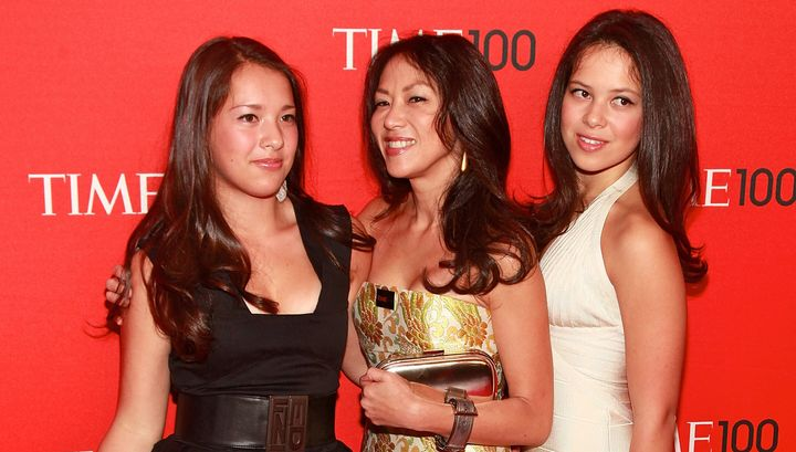 """Battle Hymn of the Tiger Mother"" author Amy Chua, center, and daughters Louisa, left, and Sophia at the 2011 Time 100 gala i"