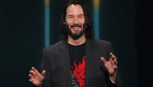 Just Keanu Reeves Telling A Crowd 'You're All