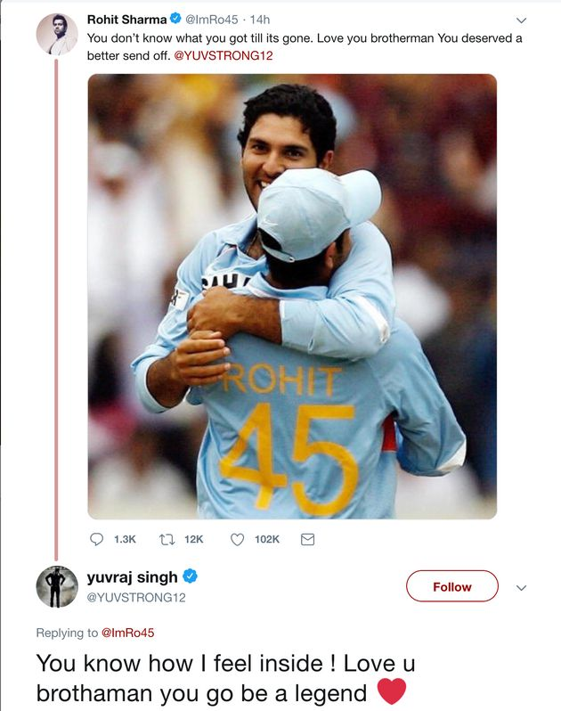 Yuvraj Singh Responds After Rohit Sharma Says Cricketer Deserved A Better