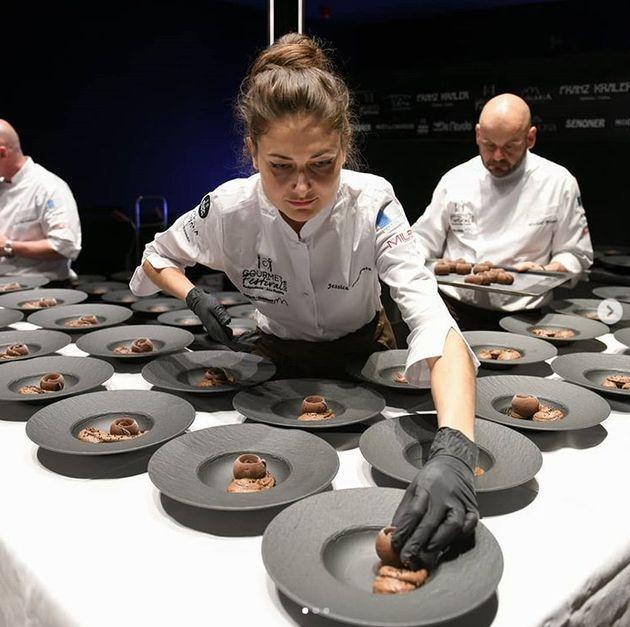 Jessica Préalpato,cheffe pâtissière au Plaza Athénée à...
