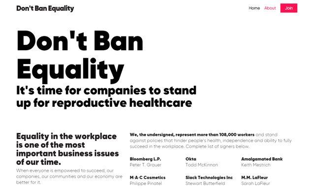 블룸버그 등 180개 기업 CEO들이 낙태 권리를 옹호하고
