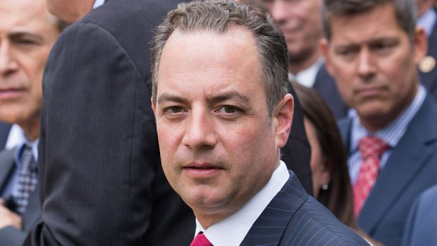 Reince Priebus, White House Chief of Staff, attended President Trump's press conference with members of the GOP, on the passage of legislation to roll back the Affordable Care Act, in the Rose Garden of the White House, On Thursday, May 4, 2017. (Photo by Cheriss May/NurPhoto via Getty Images)