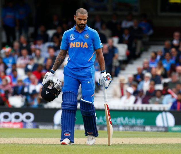 Shikhar Dhawan of India during ICC Cricket World Cup between India and Australia at the Oval Stadium...