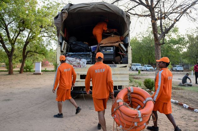 In wake of cyclone 'Vayu', personnel from NDRF are deployed in different coastal regions of