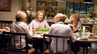 "Jane (Meryl Streep) in her kitchen in Nancy Meyers' ""It's Complicated."""