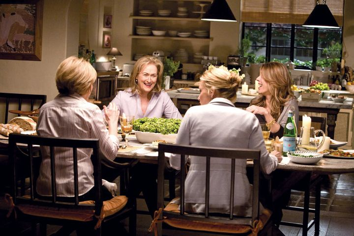 """Jane (Meryl Streep) in her spacious kitchen, in Nancy Meyers' """"It's Complicated."""""""