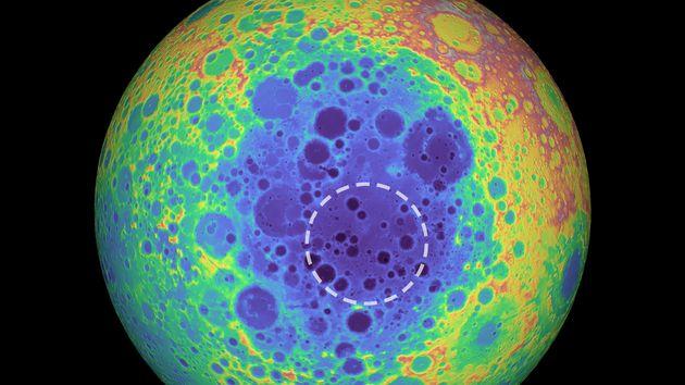 En bleu, la masse anormalement élevée du pôle sud de la