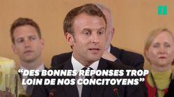 Sur les gilets jaunes, Macron admet