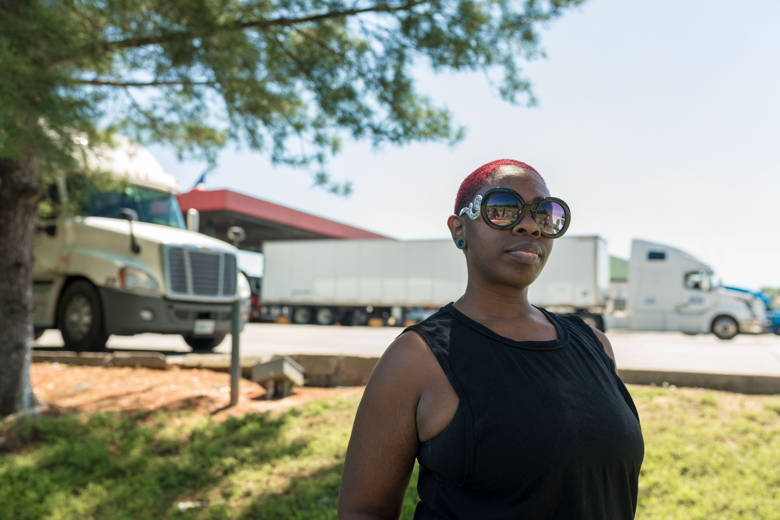 Carla Richelle credits her childhood in Birmingham, Alabama for teaching her safety skills that she uses today as a truck dri