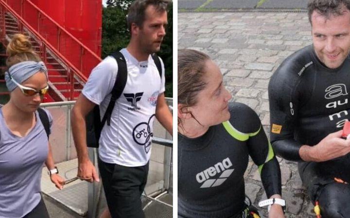 Marche, course à pied ou encore natation et tandem, Marine Leleu se prépare avec un guide depuis plusieurs semaines.