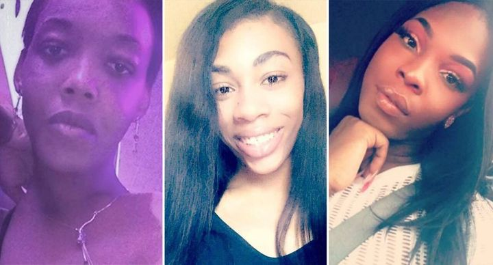 """From left, Michelle """"Tameka"""" Washington, Claire Legato and Muhlaysia Booker, all murdered within days of each other."""