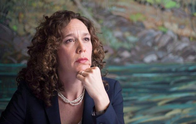 Tzeporah Berman pauses for a moment during a news conference on Canadians' right to be heard on major...