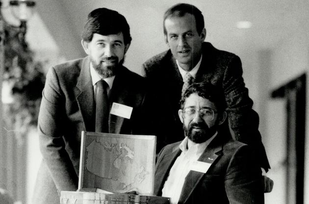Peter Dalglish (top right) one of five winners of the 1986 Vanier Awards on March 5, 1986.
