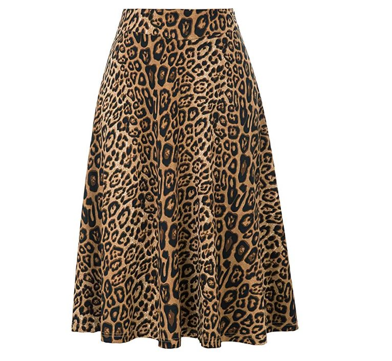 how to get footwear buy cheap 8 Stunning Leopard Print Midi Skirts On Amazon Under $30 ...