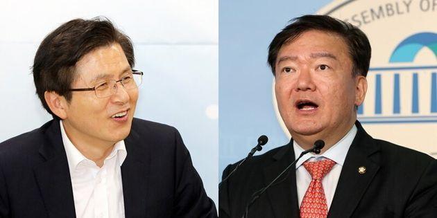 황교안 대표(왼쪽), 민경욱