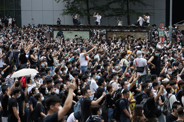 Massive Protests In Hong Kong Halt Debate Of Controversial Extradition