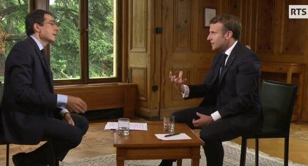 Emmanuel Macron interviewé sur la