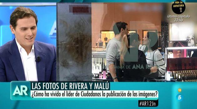 La cortante reacción de Rivera cuando Ana Rosa (Telecinco) le ha preguntado por Malú: luego se lo tomó