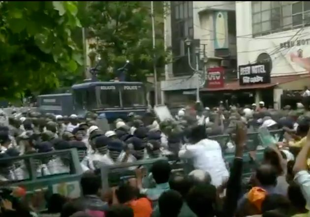 BJP Protest March In Kolkata Turns Violent; Police Use Tear Gas, Water Canons