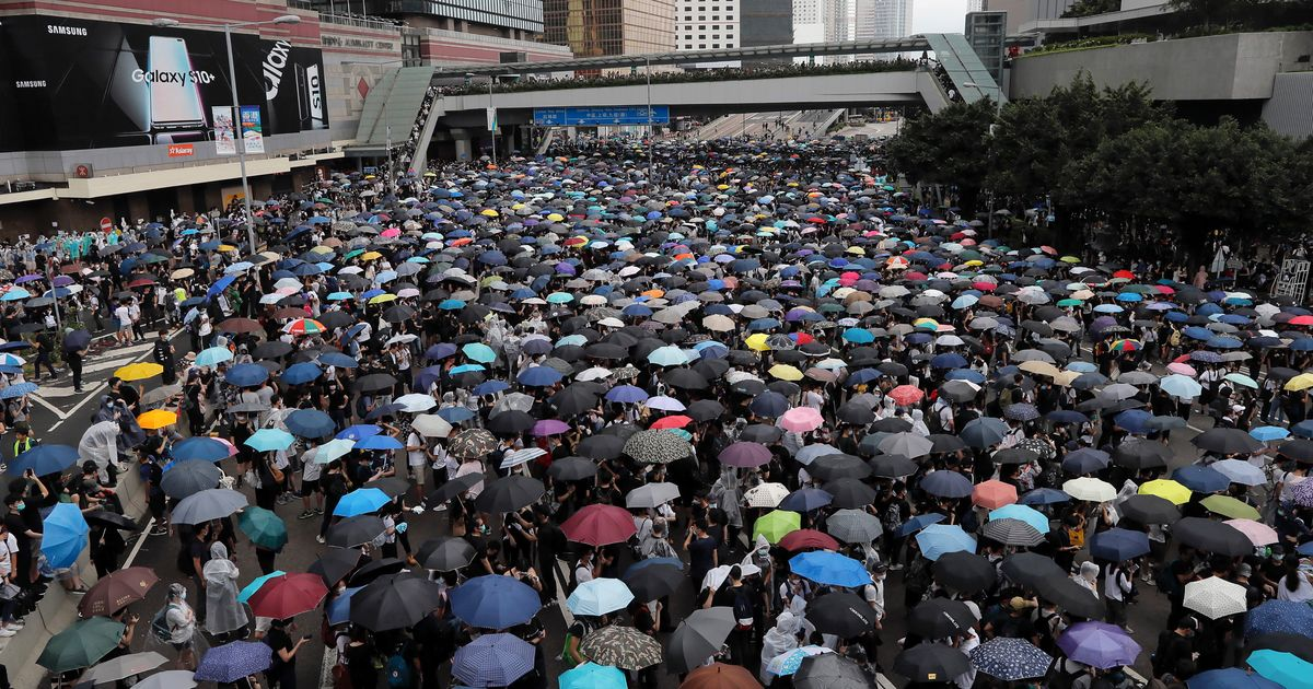 Massive Protests In Hong Kong Halt Debate Of Controversial Extradition Bill